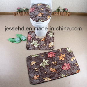 Super Modern Design 3PCS Bathroom Coral Fleece Mat pictures & photos
