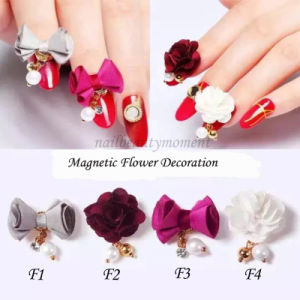 Nail Art 3D Alloy Decoration Magic Magnetic Flower Beauty Accessories (D86)