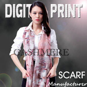 Digital Printed Cashmere Scarf pictures & photos