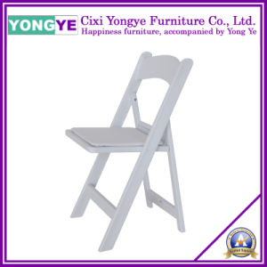 White Resin Upholsters Folding Chair for Wedding Party pictures & photos