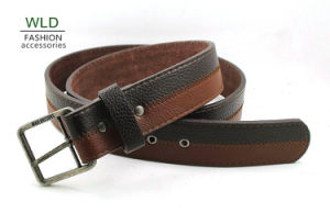Classic and Basic Man Belt with Split Leather Linning M706 pictures & photos