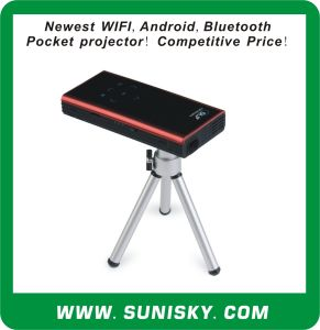 Newest Bluetooth + WiFi + Android Mini Pocket Projector (SMP7052) pictures & photos