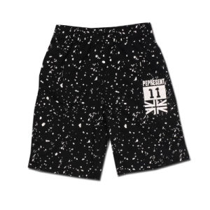 Sports Casual Print Letter Shorts Black Cotton pictures & photos
