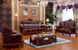 Luxury European Style Wooden Sofa Chinese Living Room Furniture Th227
