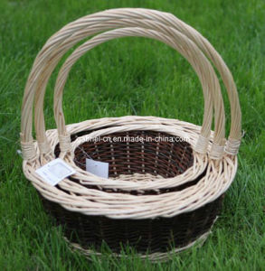 Wicker Willow Basket with Handle (M801)