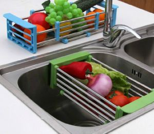 Flexible Stainless Steel Draining Rack for Kitchen Sink pictures & photos