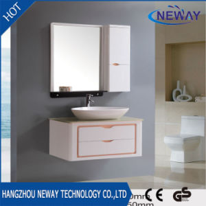 PVC Wall Ceramic Basin Wash Bathroom Mirror Cabinet