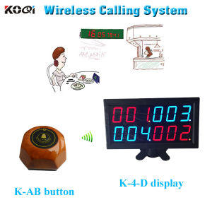 Show 4 Group Number at The Same Time with Call Button Wireless Buzzer System pictures & photos