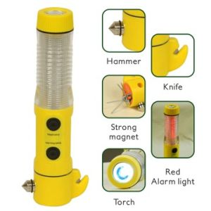 5 in 1 Car Emergency Multifunctional LED Light with Hammer and Knife