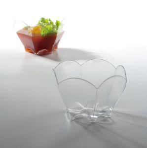 Transparent Flower Shape Vegetable Container Plastic Bowl