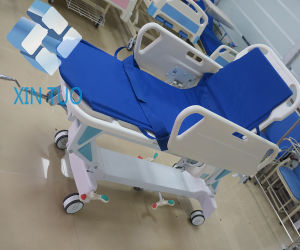 Stainless Steel Patient Transfer Surgical Instrument Treatment Trolley Bed pictures & photos