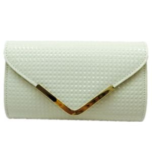 White clutch Woven Ladies Bags Simple Elegant Eveningbag pictures & photos