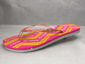 156563d4e Concise Comfortable PVC Pcu Flip Flops with Colorful Jelly Strap (24ML1721)