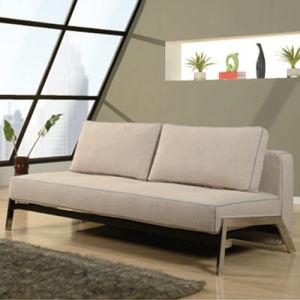 Modern Home Furniture Pu Real Leather Cloth Sofa Bed Wlf S1001