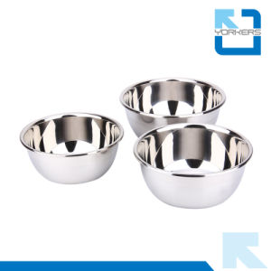 Stainless Steel Deep Fruit Mixing Bowls for Kitchen pictures & photos