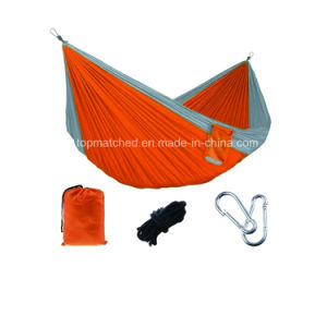 Rocking Folding Portable Camping Double Parachute Nylon Hammock pictures & photos