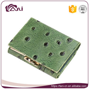 Small Size PU Leather Women Money Clip Wallet 2017 pictures & photos