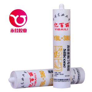 Glass Door Acetic Adhesive/Silicone Sealant (YBL-380) pictures & photos