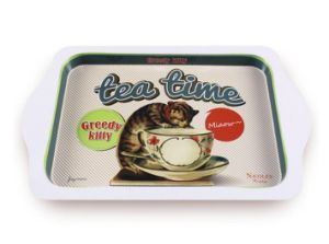 Retro Mini Cafe Small Metal Coffee Tray, Decorative Tray pictures & photos