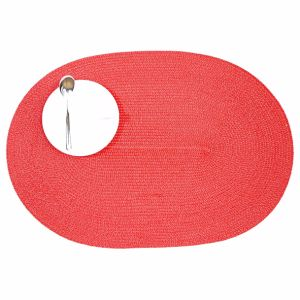 Oval 100% Polyester Tablemat for Tabletop