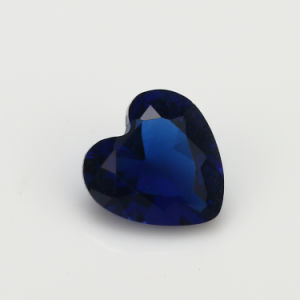 Sythetic Beads Cheap Dark Blue Heart Glass for Gem Jewellery pictures & photos