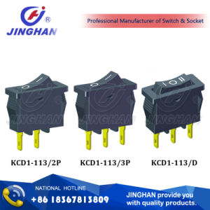 Kcd1-113 Spst Rocker Switch 6A 250V pictures & photos