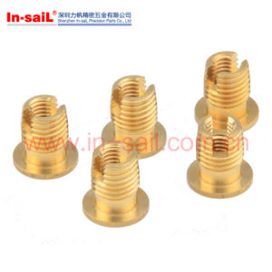 L3021 Brass Threaded Insert Slotted with Flange pictures & photos