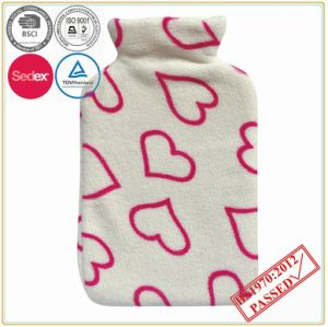 2000ml Hot Water Bottle Cover with Soft Fleece Cover pictures & photos