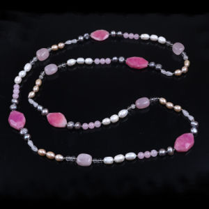 Hot Multicolor Beaded Pearl Stone Beads Necklace pictures & photos