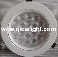 15X1w White Shell LED Downlight