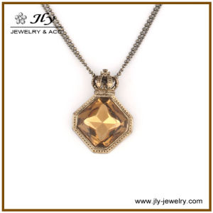 Wholesale Alloy Antique Bronze Plating Glass Stones Bead Chain Fashion Jewelry Pendant pictures & photos
