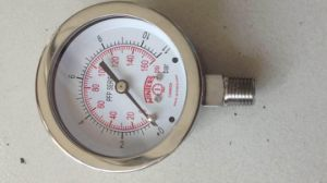 Fillable All Stainless Steel Pressure Gauge pictures & photos