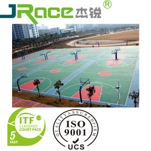 China Itf Approved Silicone Pu Paint For Tennis Court Basketball