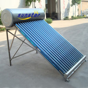 Stainless Steel Non-Pressurized Solar Water Heater -CE pictures & photos