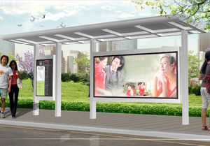 Bus Shelter with Stainless Steel (HS-BS-A017) pictures & photos