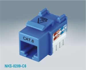 CAT6 UTP 90 Degree RJ45 Keystone Jack (NKS-0209-C6)