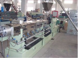 Parallel Conical Double/Twin/Two Screw Plastic Extruder pictures & photos