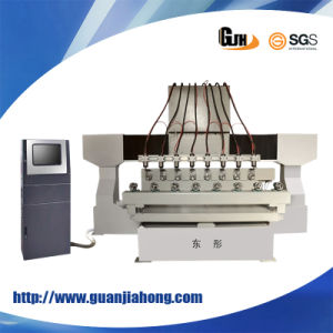 4 Axis Cylindrical Muti-Head Woodworking Machine CNC Router (DT2012W-8) pictures & photos