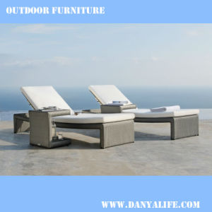 China Wicker Garden Patio Lounger Rattan Outdoor Leisure Chair Swimming Pool Dylg D2116 Sun Bed
