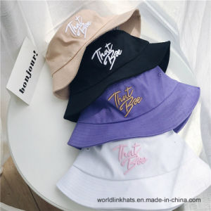 e3a7e7939a99c Wholesale 3D Embroidery Short Brim Fisherman Cap Fashion Bucket Hats
