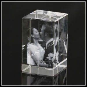 Crystal Block Engraved with Wedding Photos for Souvenir Gift (ND-1002) pictures & photos