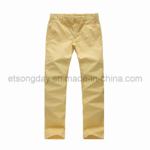 Cotton Spandex Twill Men′s Casual Trousers (APC50) pictures & photos