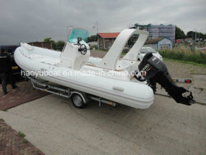 22.3feet CE Certified Rib680b Luxury Boat, Fishing Boat, Rowing Boat with High Quality PVC or Hypalon Fabrics pictures & photos