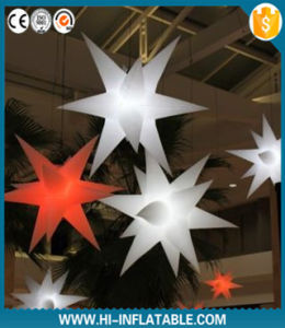 2015 Hot Selling LED Lighting Inflatable Star for Event, Party, Christmas Ceiling Decoration with Luminous LED Bulb