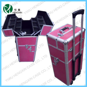Aluminum Trolley Makeup Professsional Cosmetic Case pictures & photos