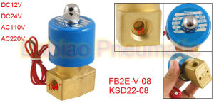 1/4′′ Direct Acting Solenoid Valve Fb2e-V-08 Viton Compact Ksd 2/2 Way Valve