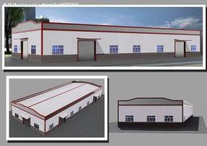 Light Steel Fabrication Warehouse with Steel Frame