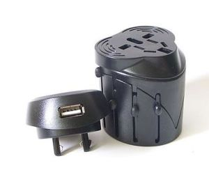 All in One Universal Travel Adapter with USB Charger (HS-T098U) pictures & photos