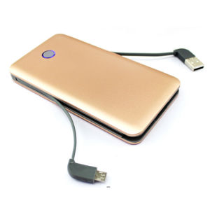 Micro Port USB Cable Power Bank Available 4000mAh 6000mAh 8000mAh pictures & photos