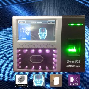 Zkteco 4.3′′ TFT Touch Screen Face Fingeprint Biometric Time Attendance Machine Zk Software Iface302 pictures & photos